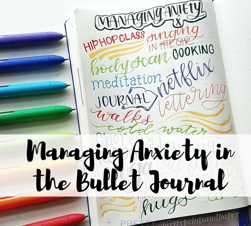 Today I share how I manage my anxiety and mental health in my bullet journal
