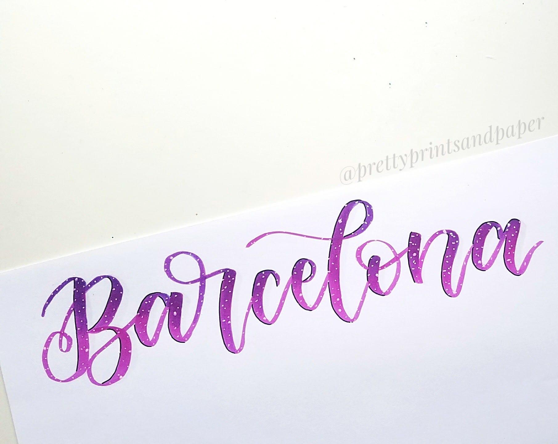 Brush Calligraphy Gra Nts And Blending Pretty Prints