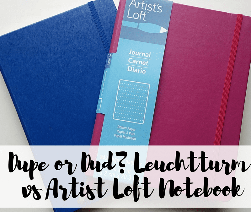 Compare the Michael's store brand notebook to the brand name Leuchtturm notebook to see if the extra money is worth spending!
