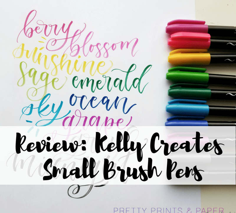 the new Kelly Creates small brush pens are now at michael's! Here's my review