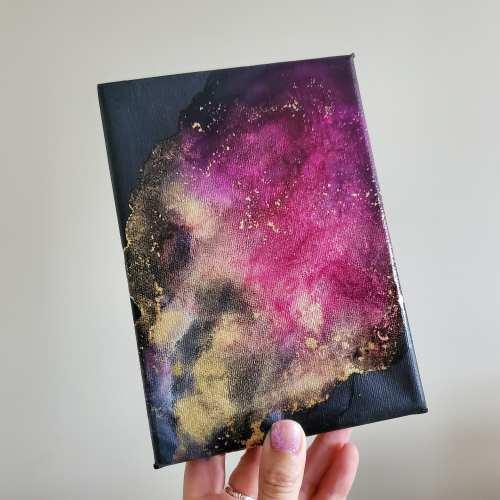 alcohol ink artwork called supernova