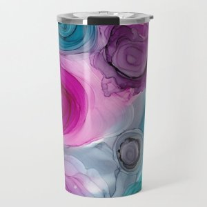 alcohol ink travel mug