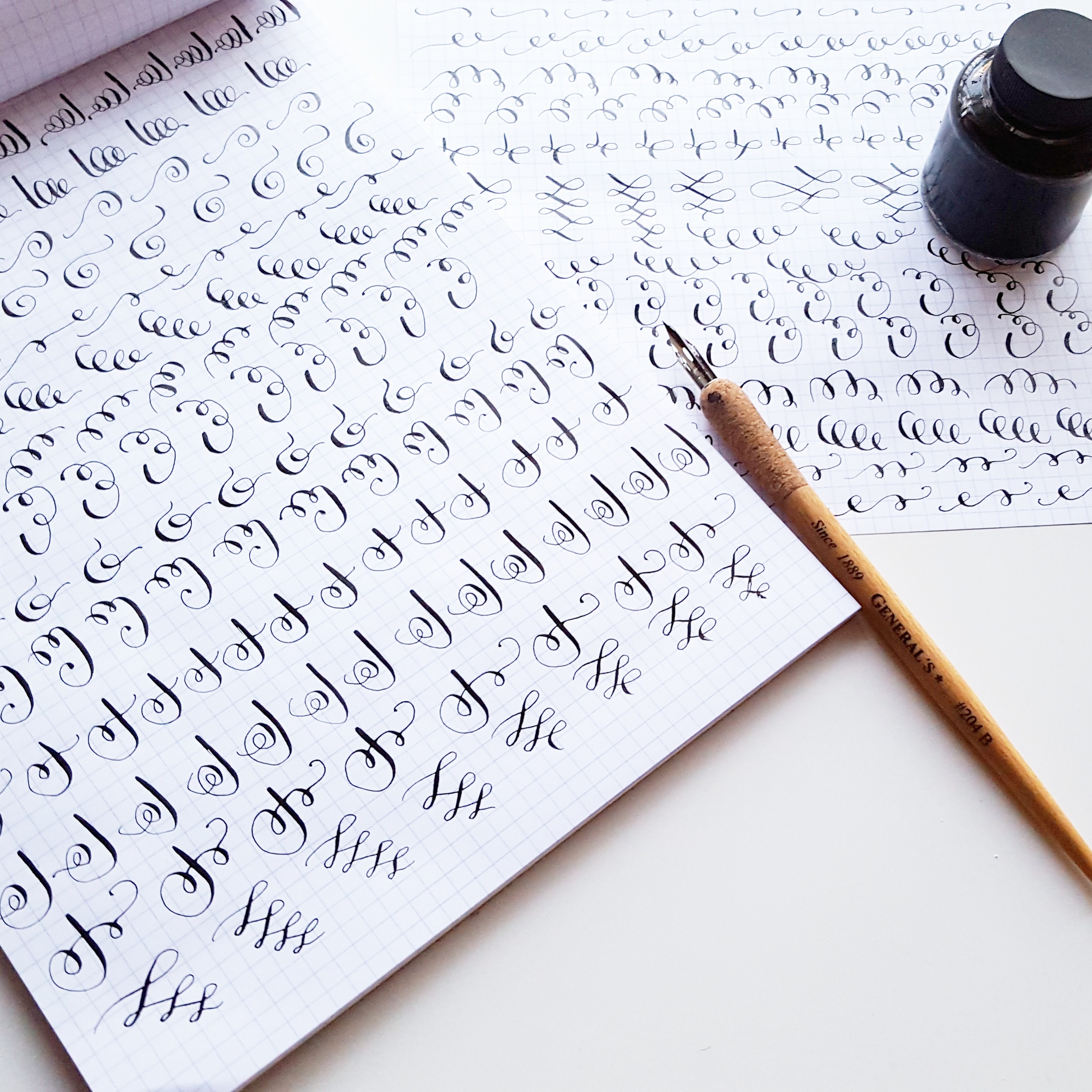 Calligraphy Flourish Drills Pretty Prints Amp Paper