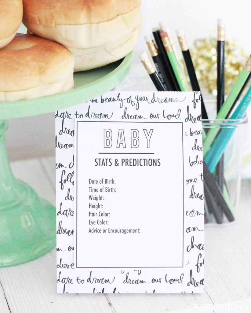 free printable baby predictions