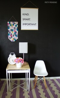 Black + White Girl Nursery - Pretty Providence