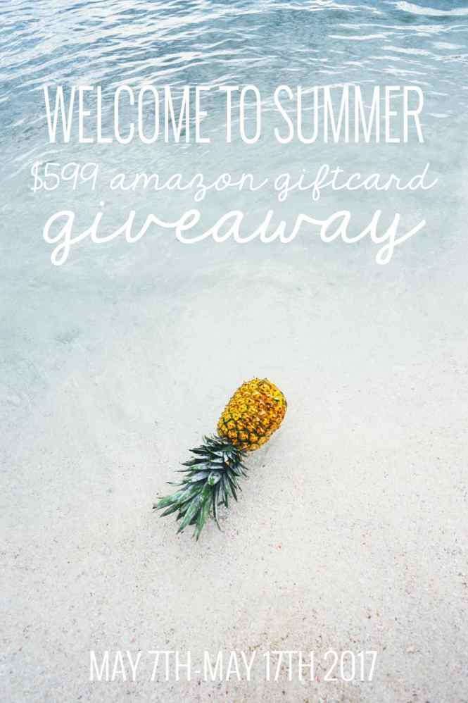Enter to win $599 Amazon Giftcard! Perfect to celebrate summer with!