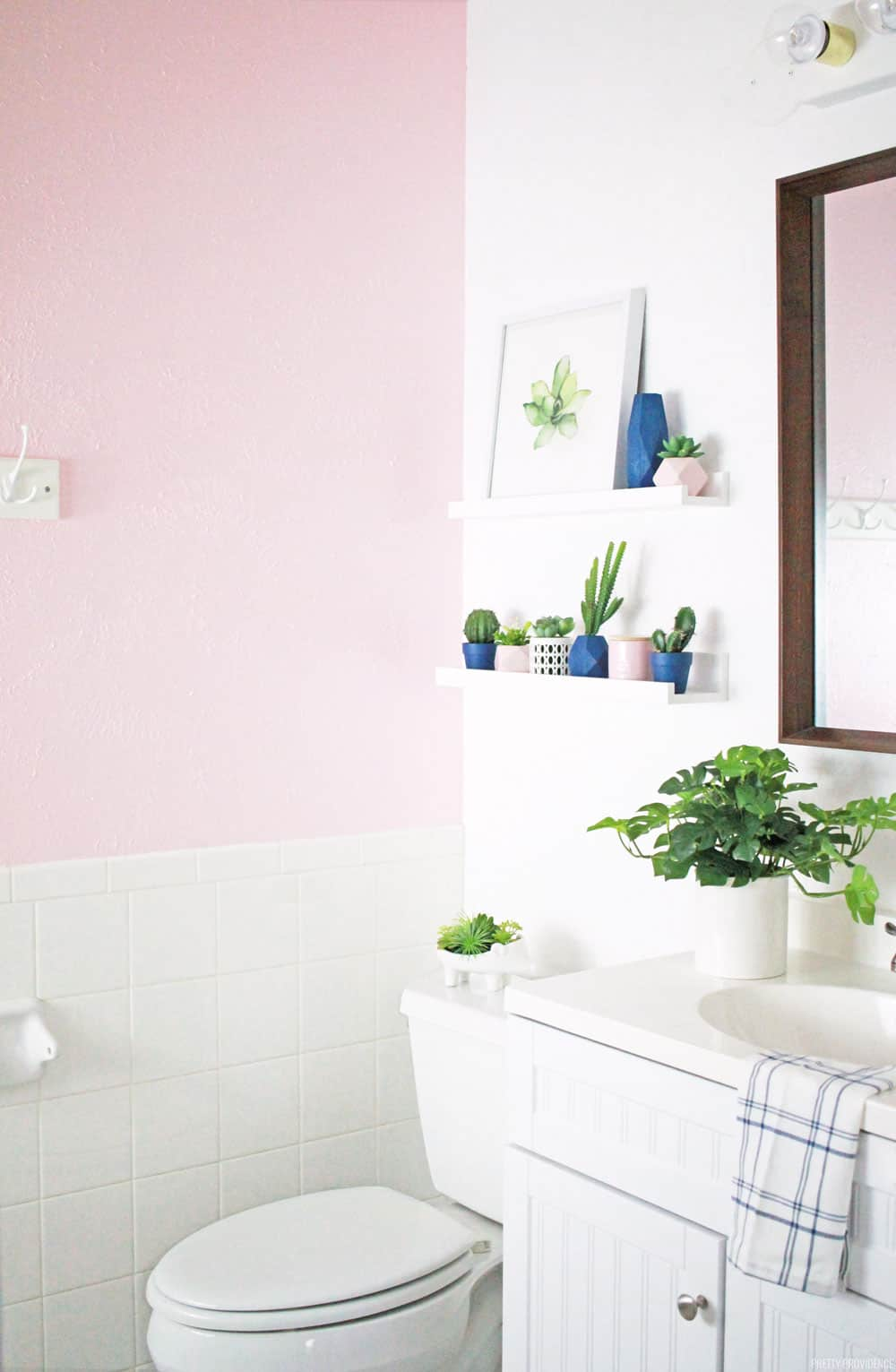 Girls Bathrooms Pink Bathroom Makeover Pretty Providence