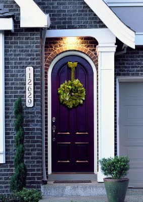 dark purple front door