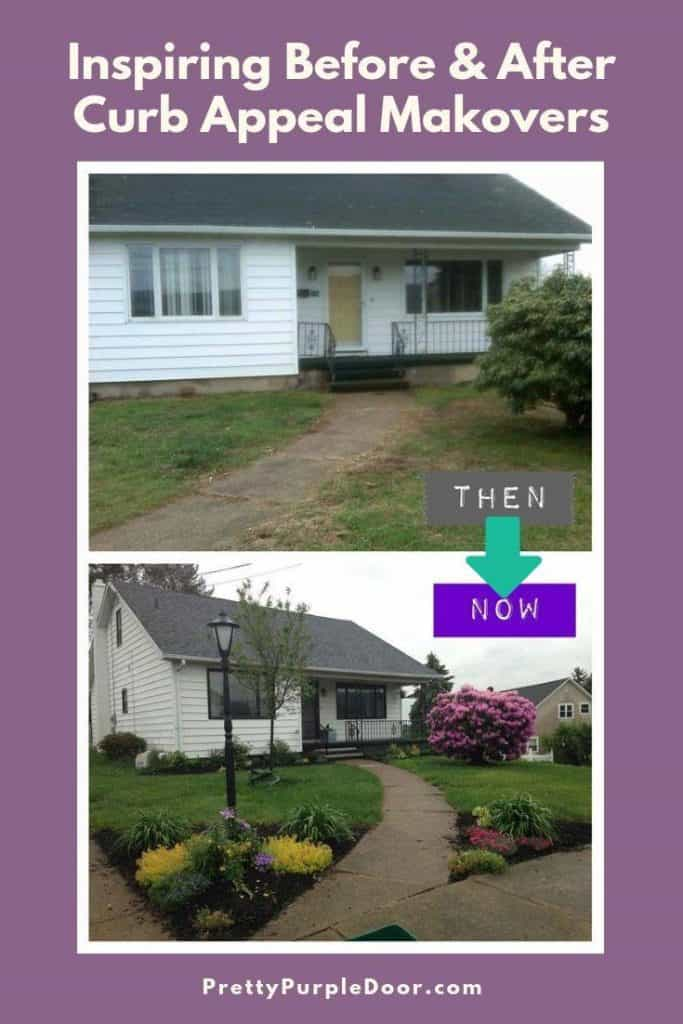 Inspiring Before & After Curb Appeal Makeovers prove that you don't need a ton of money to make a big impact.