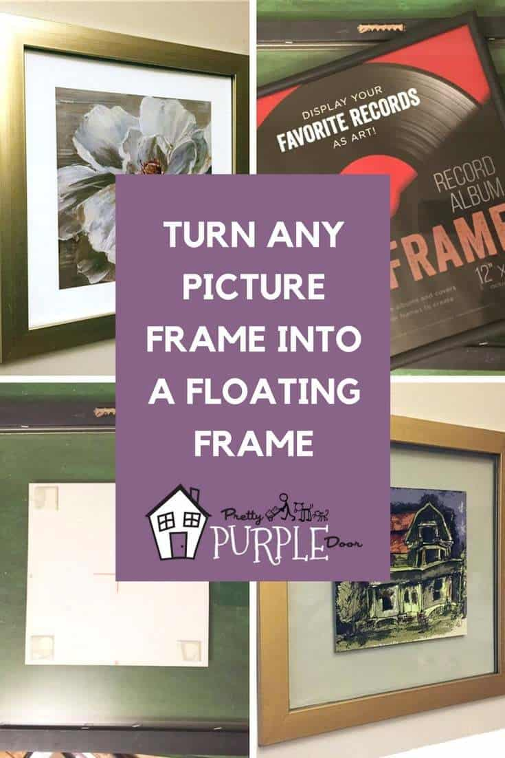 Make a floating glass frame from any picture frame