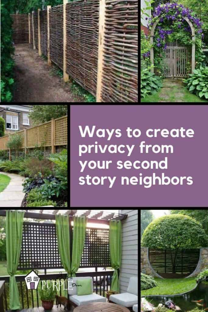 Ways to create privacy from your second story neighbors pinterest image