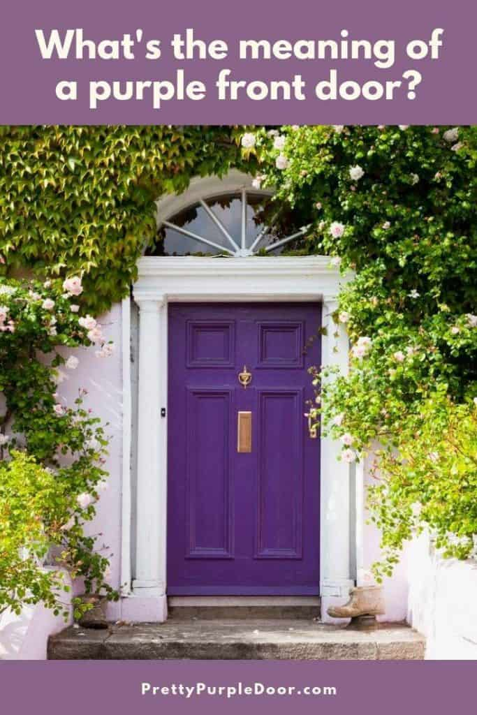 What's the meaning behind a purple front door and is it right for you?