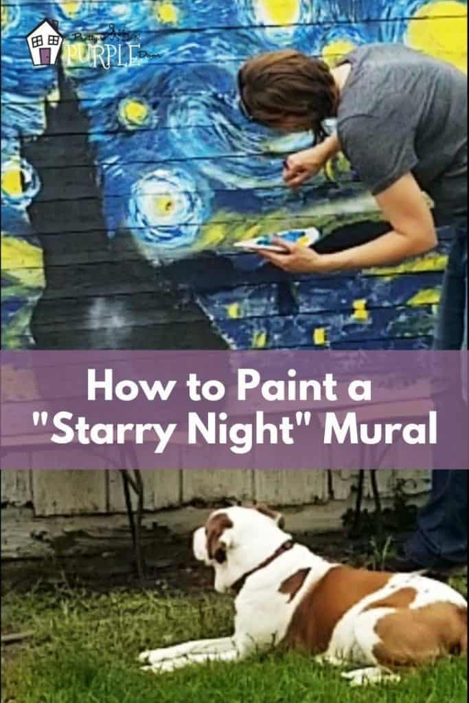 How to paint Van Gogh's Starry Night as a Mural - with complete instructions and video
