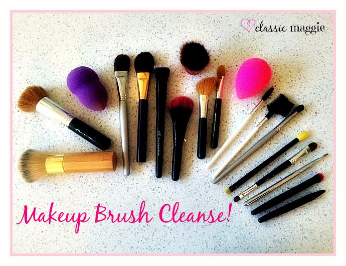Makeup brush cleanse!