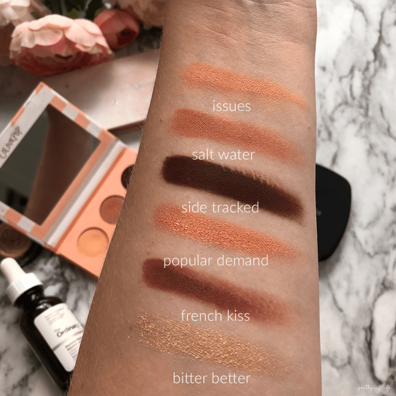 Colorpop Take Me Home Eyeshadow Palette swatches