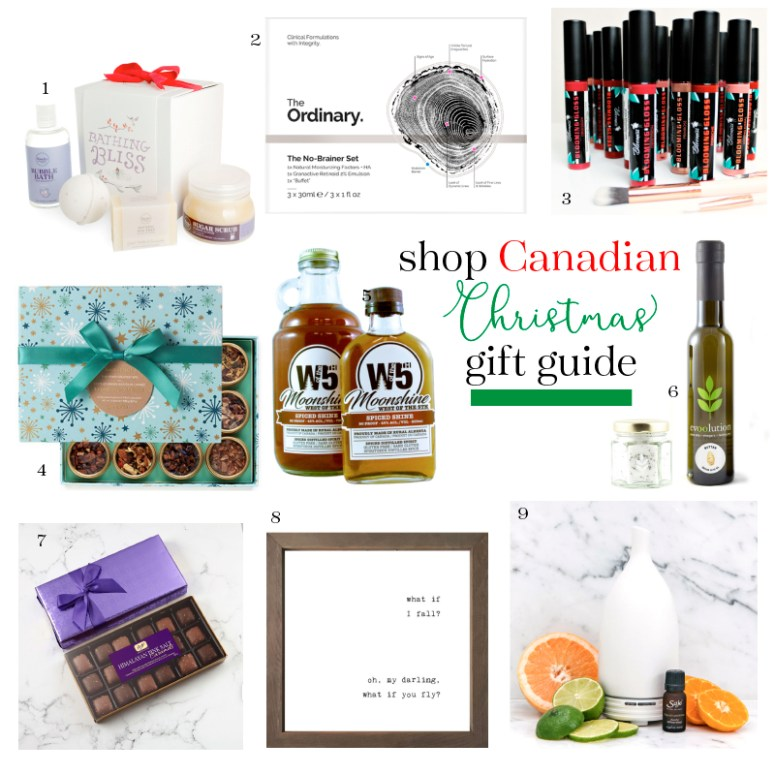 shop Canadian christmas gift guide collage