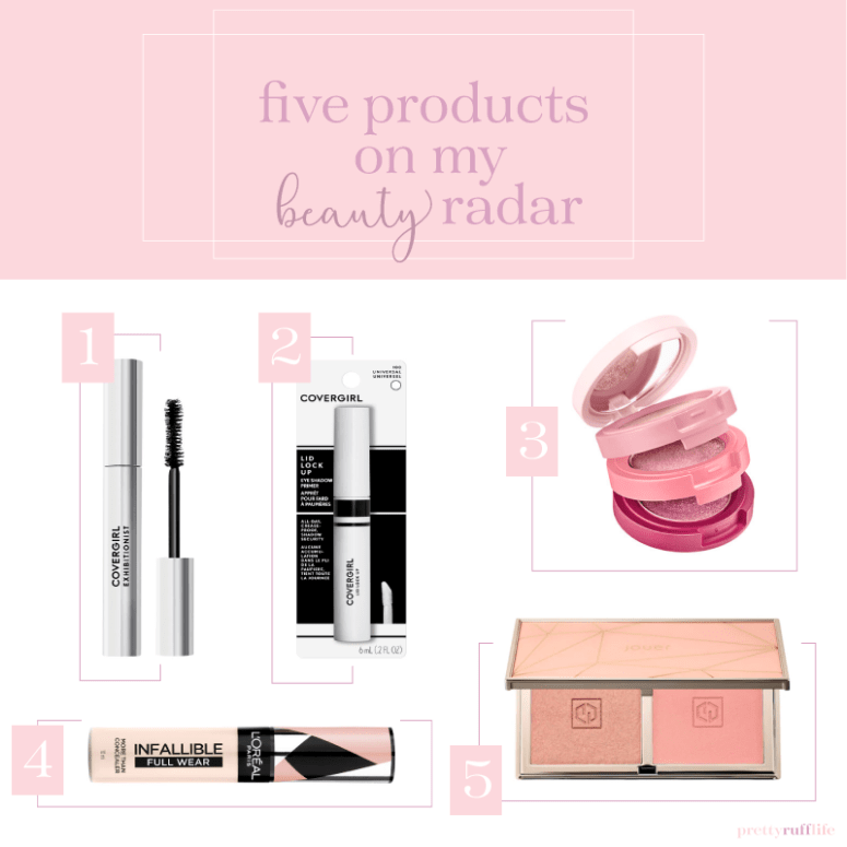 a collage of various beauty products that are numbered with a pink header at the top of the page