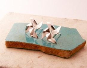 Silver Pinwheel Earrings - Uncovet - $59,99