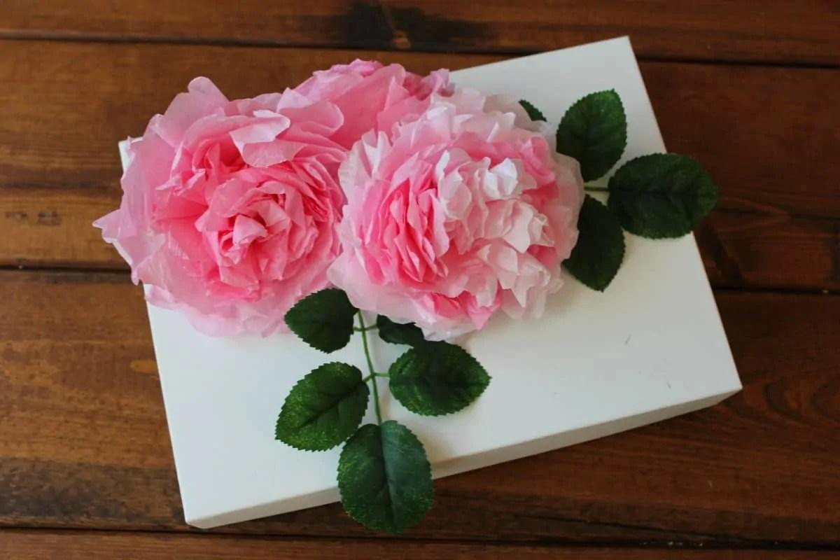 DIY Coffee Filter Flowers (To Make Rose & Peony Gift