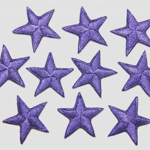 Iron on purple stars
