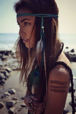 Peacock Feather Hippy Head Band