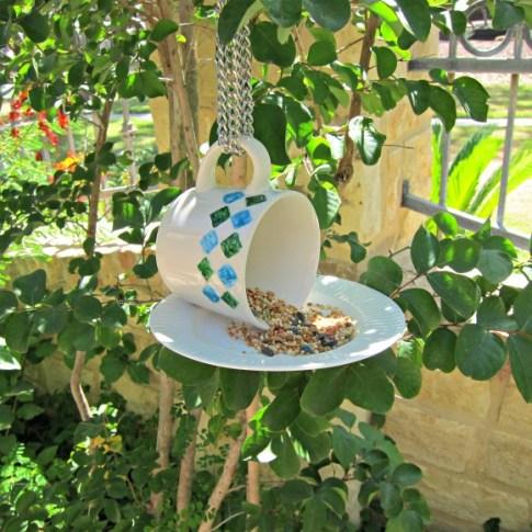Hanging Cup Bird Feeder