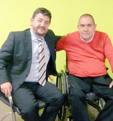 Daniel Vosseler con Josep Roca.