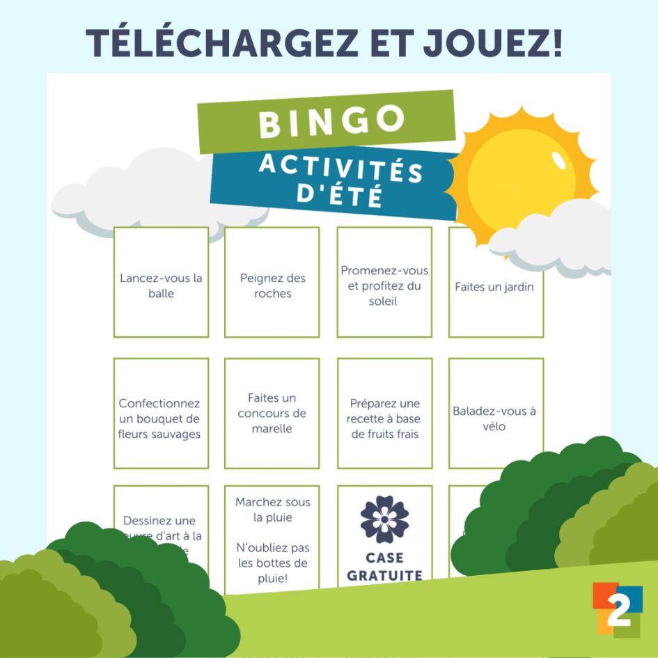 Bingo- activités d'été