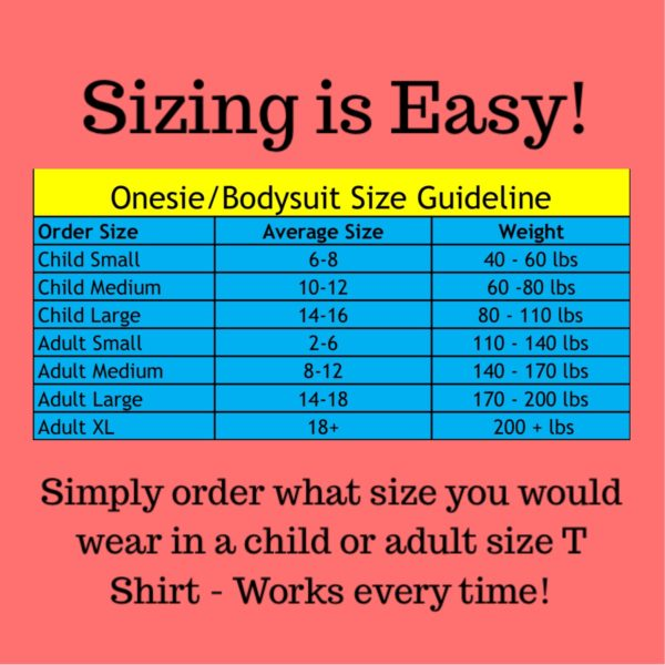size chart - Incontinence Clothes, Special Needs Bodysuit - Preventa Wear