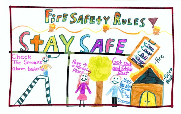 p1st fire safety winning posters