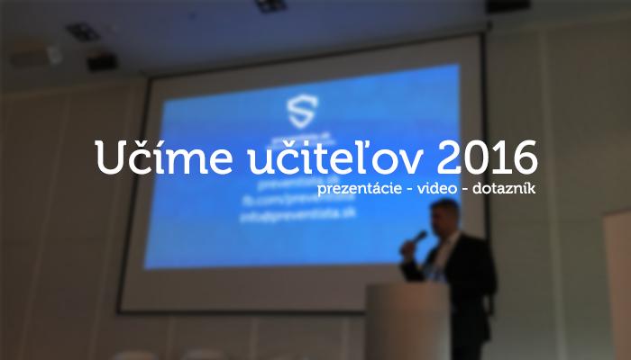 Poldeň v Bratislave – Učíme učiteľov 2016