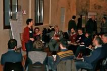 Il gruppo di discussione guidato da Federica.