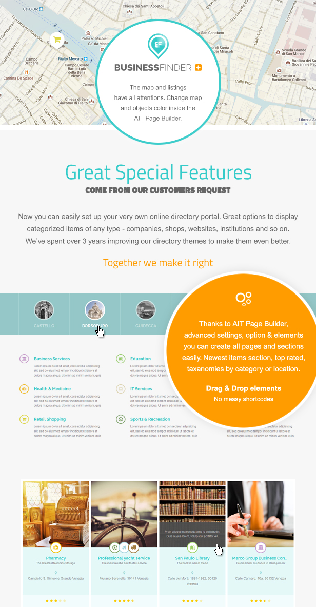 Special Business Finder Features