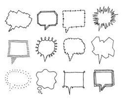 Set of speech bubbles with personality 2 stock vector