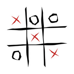 Tic tac toe game stock vector