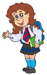 cartoon uniform uniforme escola animados menina clipart escolar desenhos animadas schooluniform het rajz dos beeldverhaal tecknad imagenes meisje dibujos schuluniform