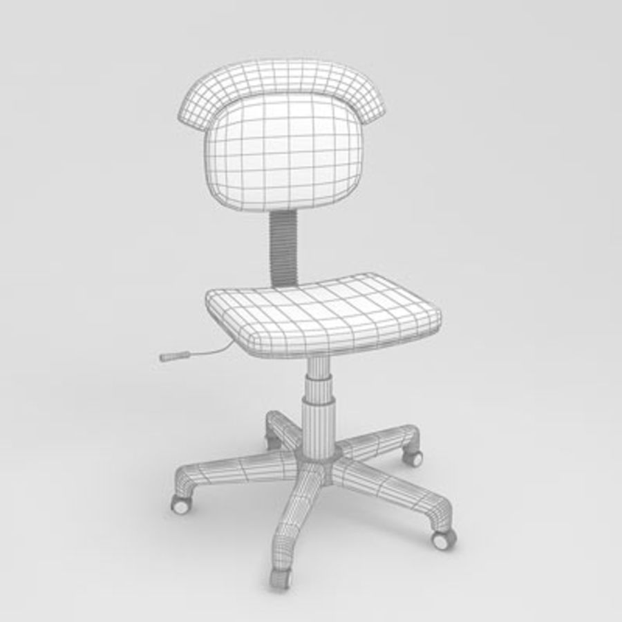 kids computer chair egg cowhide 02 by 3drivers 3d model 20 obj max 3ds royalty free preview no 3