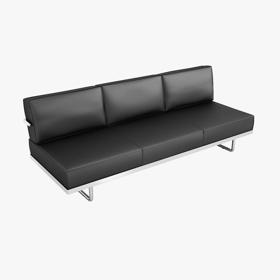 lc5 sofa price wooden couch furniture le corbusier 3d model 24 max obj fbx 3ds free3d royalty free preview no 1