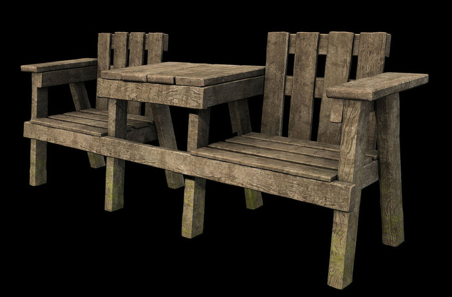 wood lawn chair staples drafting exterior wooden table and set 3d model $20 - .max free3d