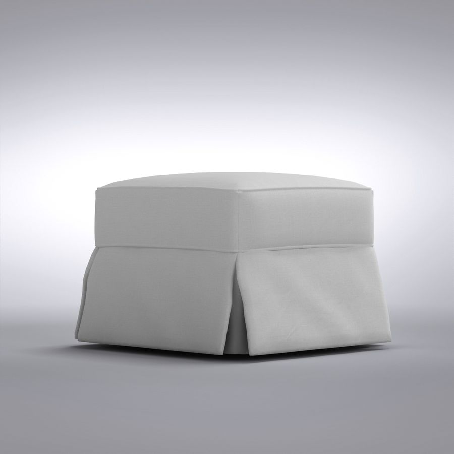caisse et baril pouf bayside royalty free 3d model preview no 1