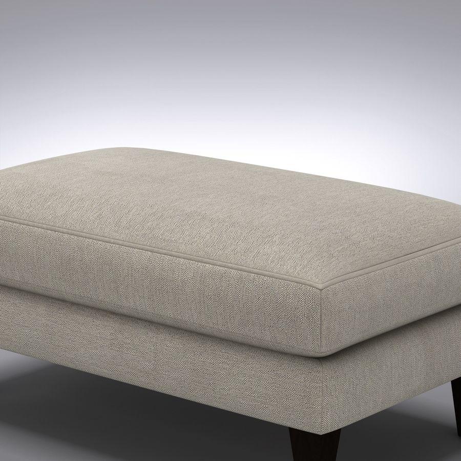 caisse et baril ottoman aidan royalty free 3d model preview no 6