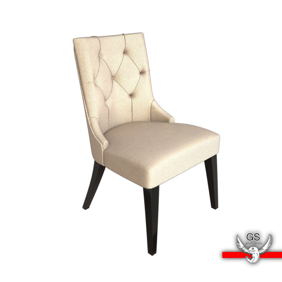 baker tufted dining chairs blue velvet chair nz 3d model 5 oth fbx obj max ma free3d royalty free preview no 1