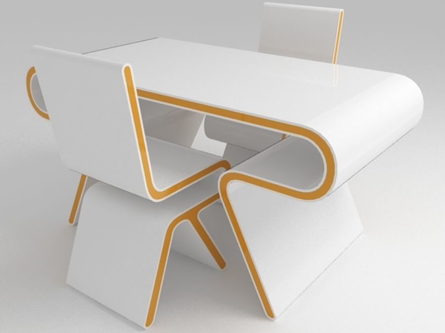 chair design model zero gravity reviews futuristic furniture ultramodern desk set 3d royalty free preview