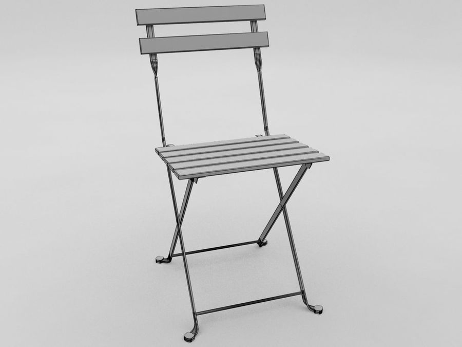 black metal folding garden chairs chair for bad back 3d model 8 max obj oth fbx free3d royalty free preview no 2