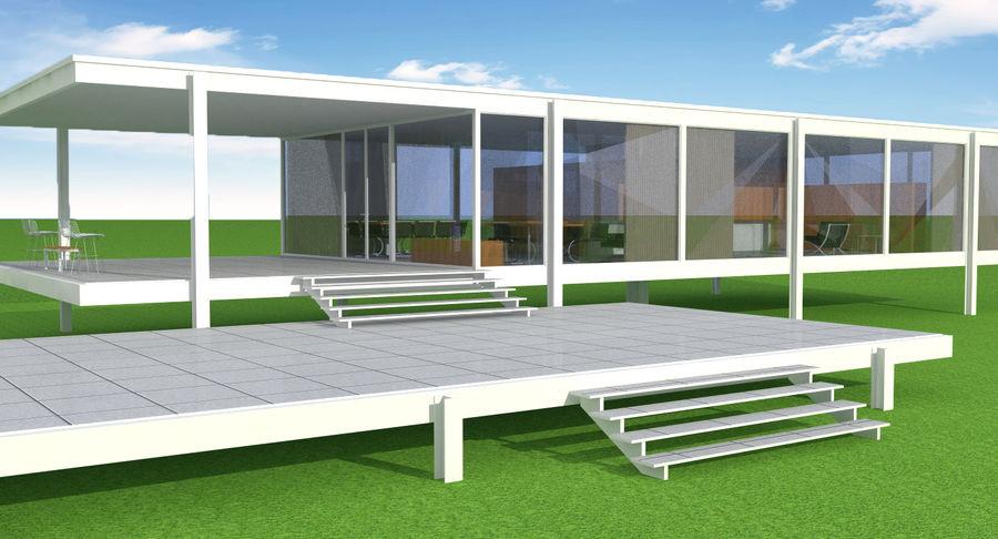 Farnsworth house 3D Model 20  c4d obj skp dae fbx 3ds  Free3D