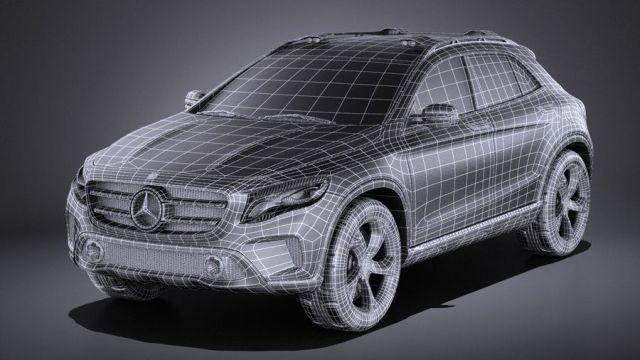 Image result for 3d suv concept mercedes mesh