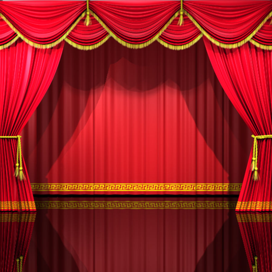 Theater Curtains Royalty Free Model Preview No 1