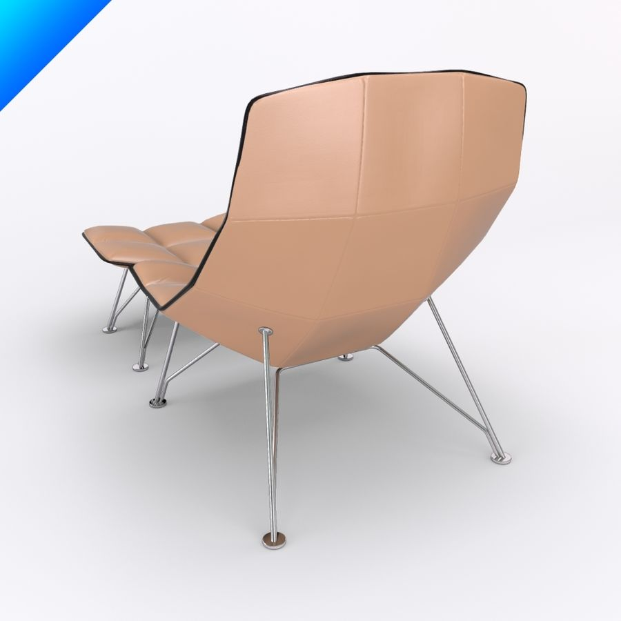 jehs laub lounge chair brown folding chairs and ottoman wire base fixed back 3d model 35 royalty free