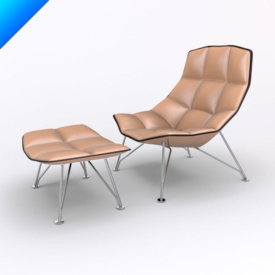 jehs laub lounge chair ergonomic cebu and ottoman wire base fixed back 3d model 35 royalty free