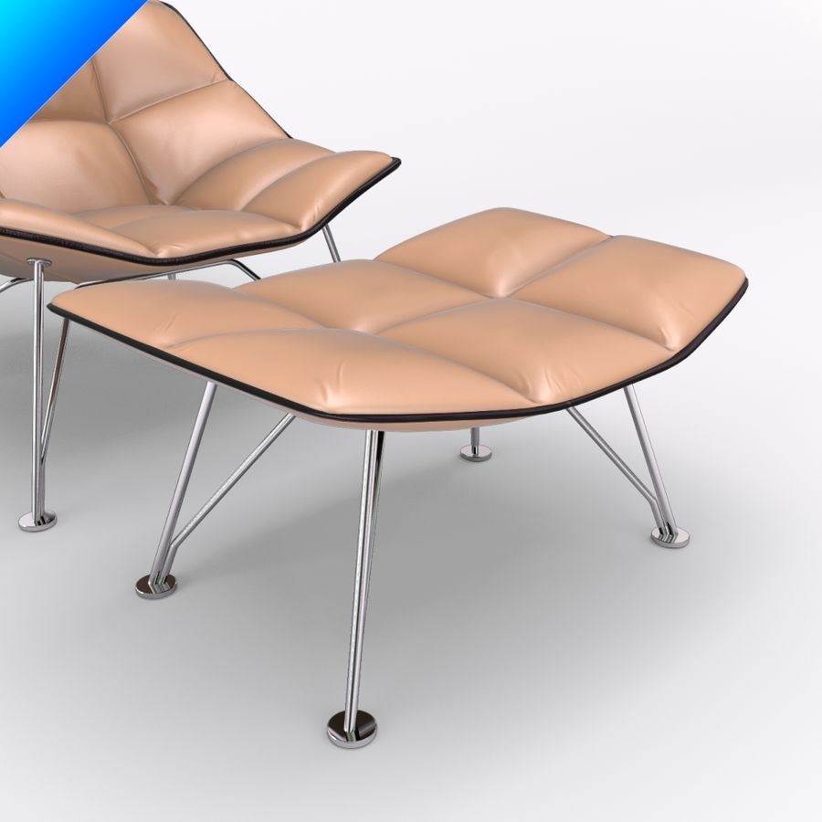 jehs laub lounge chair overstock com chairs and ottoman wire base articulateing back 3d royalty free
